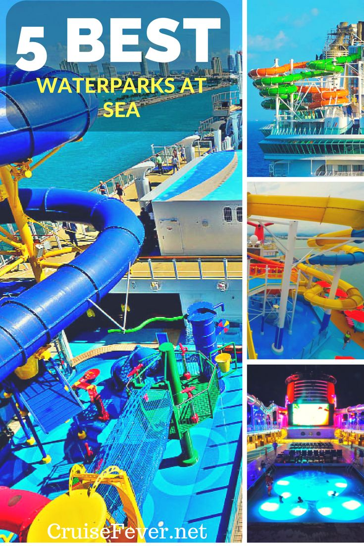 Not only are there great waterslides at sea, but there are also entire waterparks to get soaked at onboard cruise ships. Here are the best now and into the future.  Check out our top picks on Cruise Fever.