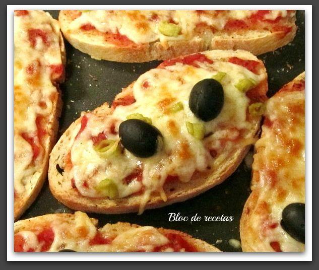 Bloc de recetas: Tostapizzas en microondas