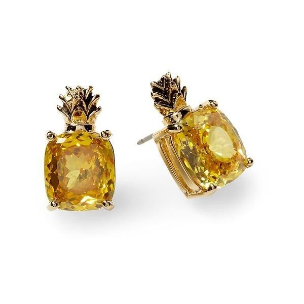 Juicy Couture Pineapple Earring found on Polyvore