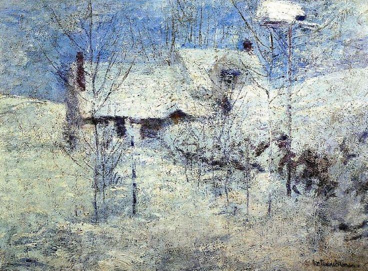 best impresionismo americano images american john henry twachtman paisaje en invierno
