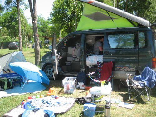 'Mose' campsite, Punta Sabbioni, near Venice.
