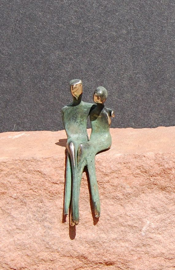 M I N I  bronze sculpture romantic anniversary gift by YennyCocq, $120.00