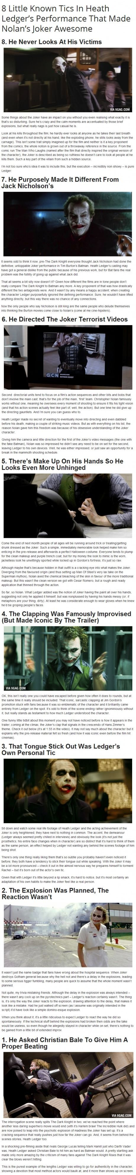 If you ask me, Heath Ledger made the Joker character untouchable for the next generation. Seriously. He was the most incredible.-- nicely said.