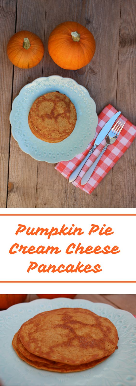 Pumpkin Pie Cream Cheese Pancake: low carb, keto, and egg fast friendly!