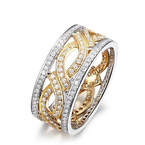 1.05ctw Diamond Wedding Band,Solid 18K Two Tone Gold Anniversary Full Eternity Ring,Engagement Ring, http://www.amazon.com/dp/B013JHAD98/ref=cm_sw_r_pi_awdm_MqsYvb0Q2G9A2