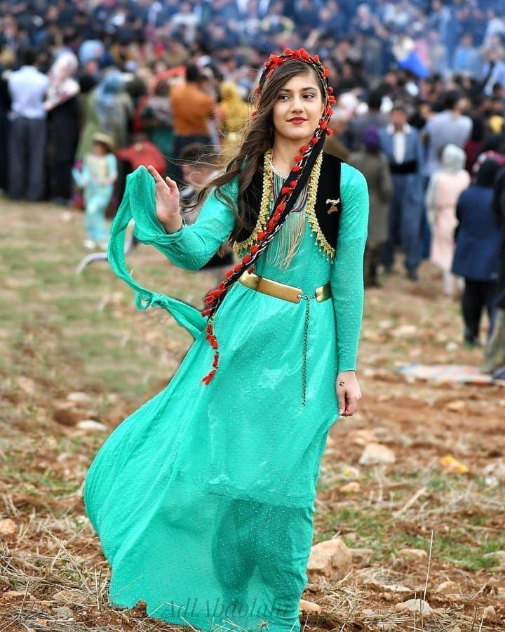 Beautiful Kurdish Dress Fashion Persian Culture Women