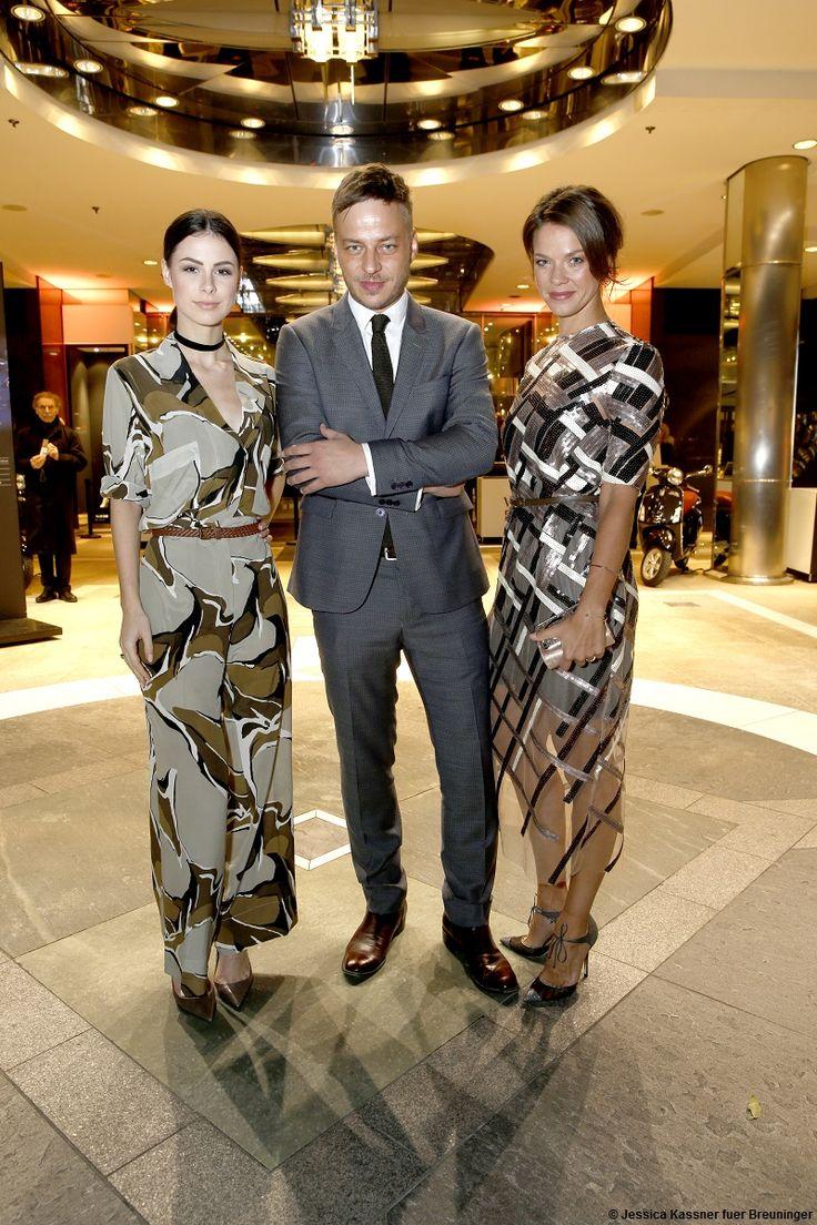 "Tom Wlaschiha, Lena Meyer-Landrut and Jessica Schwarz at the ""VOGUE LOVES BREUNINGER"" Fashion Event X From: https://www.facebook.com/tomwlaschihafanpage/"