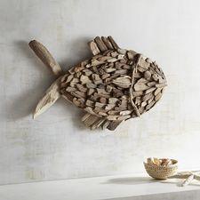 Driftwood Fish Wall Decor