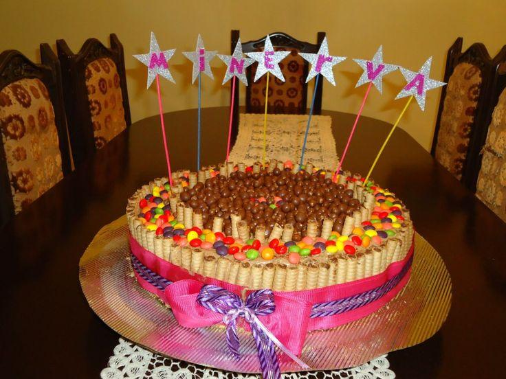 Torta de pirulin, dandy y pin pon.
