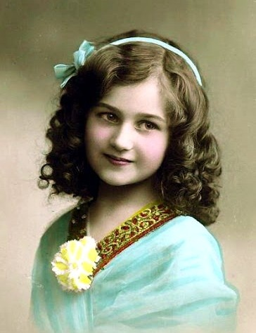 Vintage Colorized Picture of a Girl