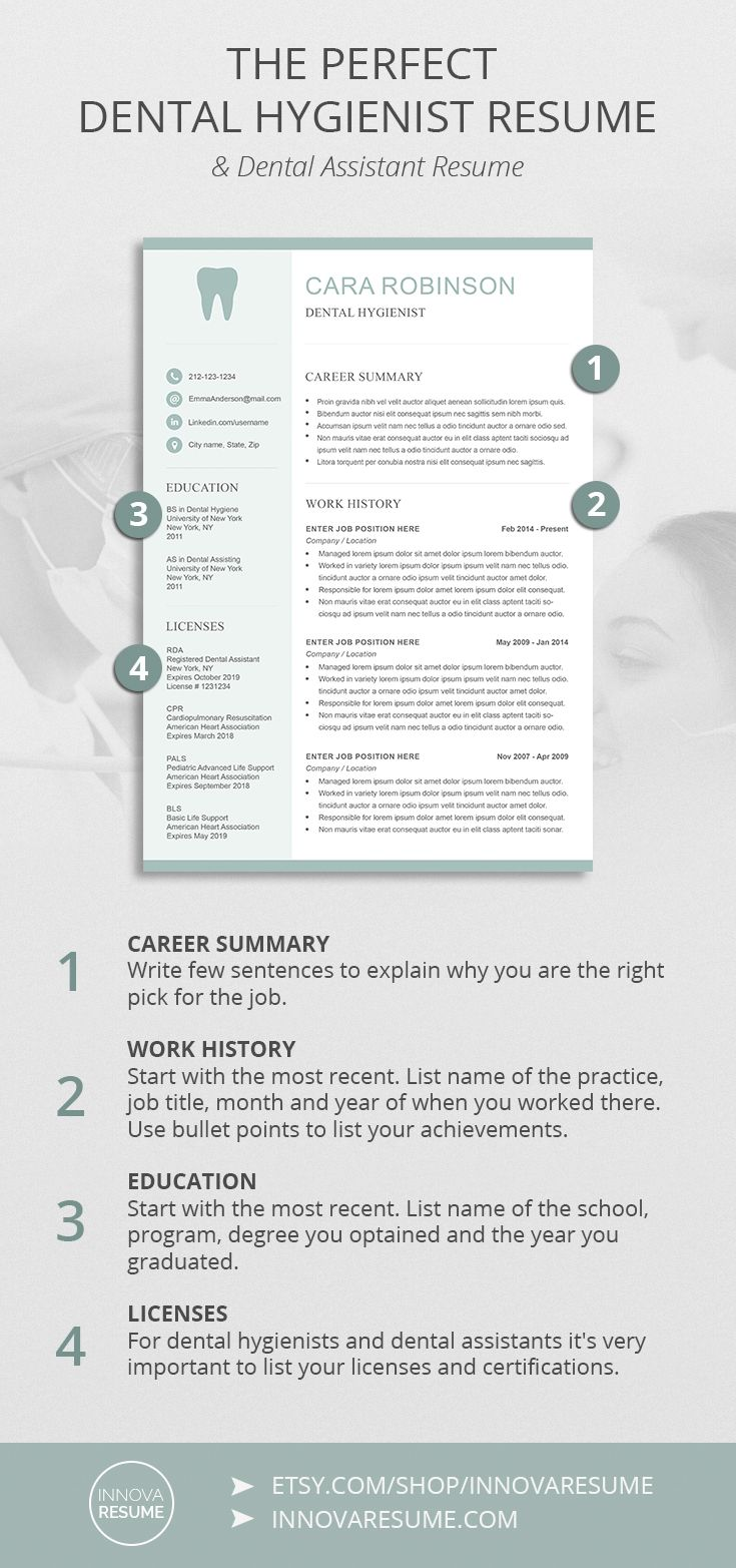 The Perfect Dental Hygienist Assistant Resume DentalHygienist DentalAssistant