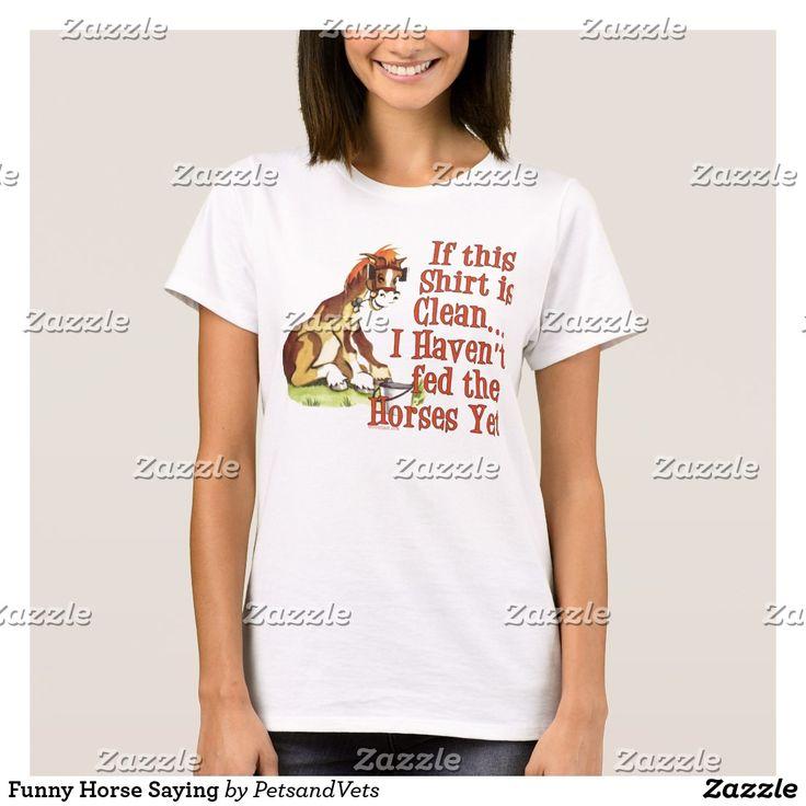 Funny Horse Saying #SoTrue #ExcusesExcuses #FunnyTees #SehrLustig