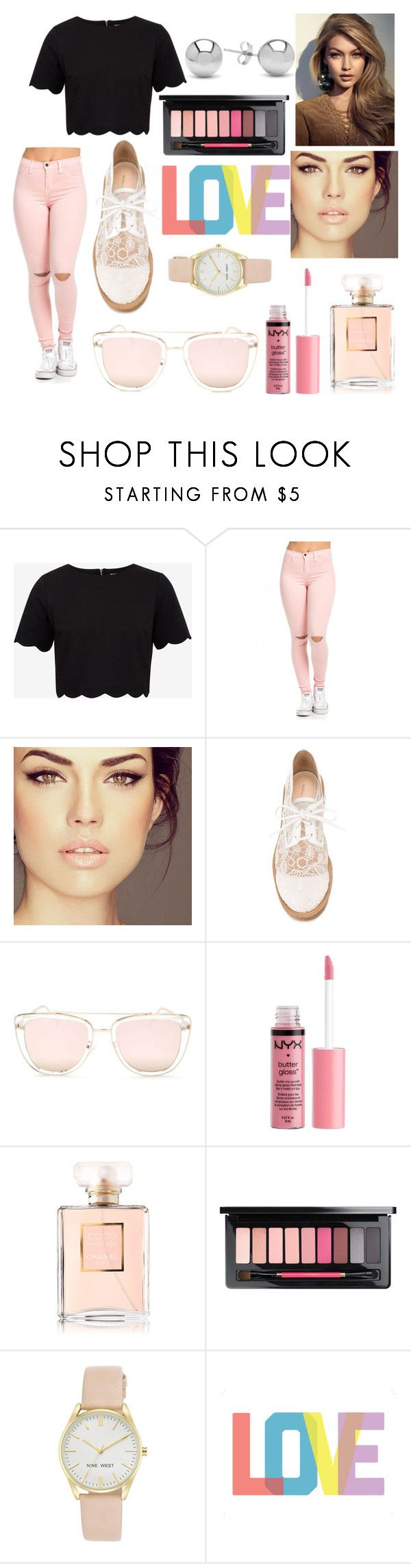 """Aphrodite cabin"" by liljmac ❤ liked on Polyvore featuring Ted Baker, Nicholas Kirkwood, Quay, Charlotte Russe, Chanel, Nine West and Jewelonfire"
