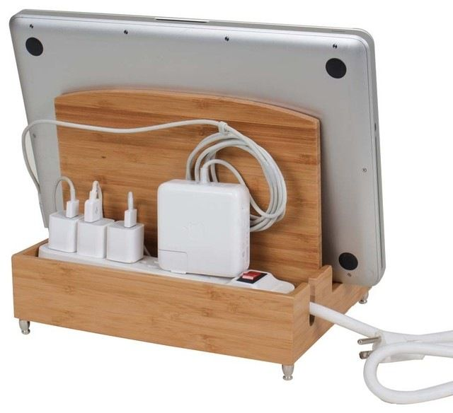 Ultra Charging Station, Zen, With 6-Outlet Power Strip transitional-charging-stations