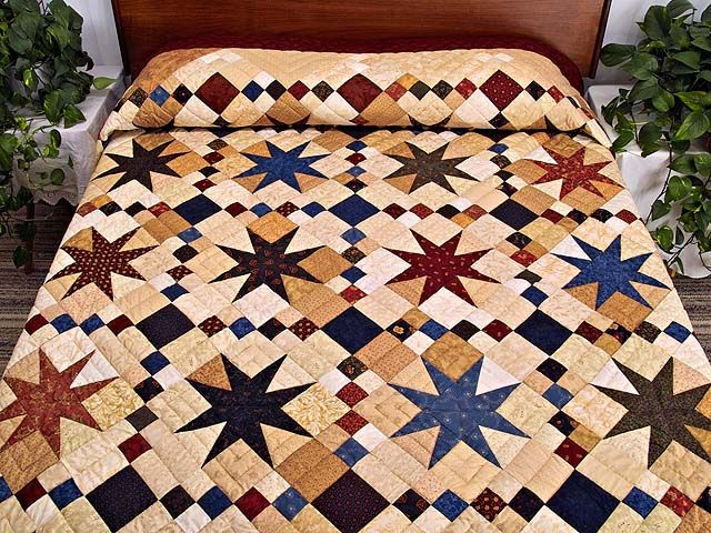 Stepping through the Stars Quilt -- maybe it's time I did another traditional quilt