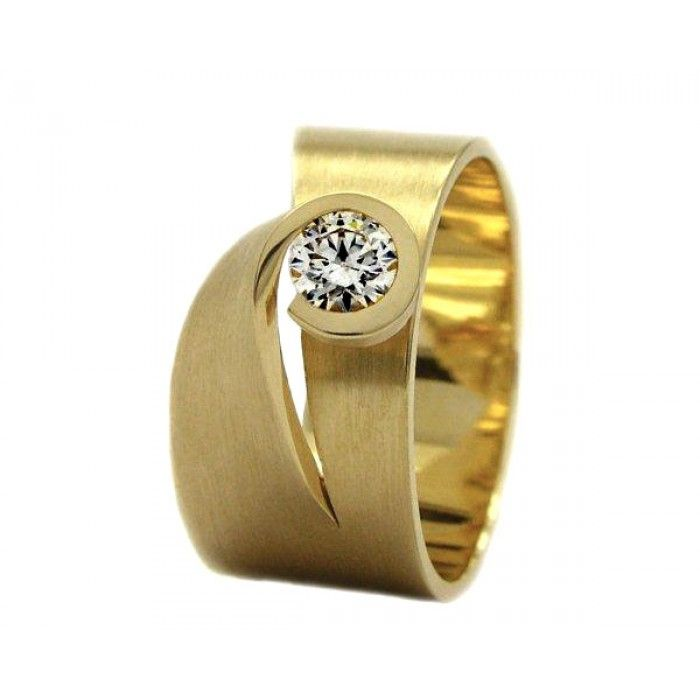 Cardillac gouden ring met 0,10 karaat diamant Ouro Jewels