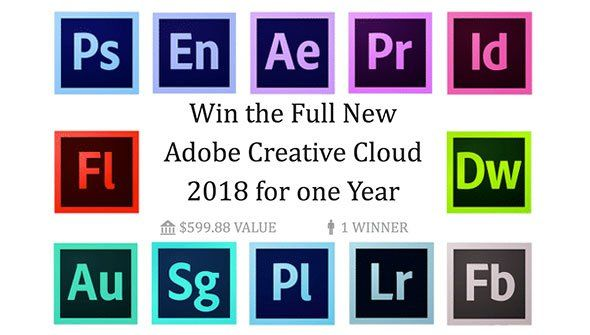 Win The Full New Adobe Creative Cloud 2018 For One Year Adobe Creative Cloud Creative Cloud Creative