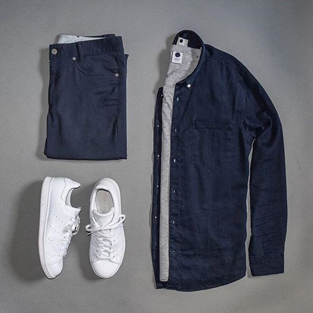 WEBSTA @ menslifestyle247 - Double tap if you like this ••Overshirt: @nonationality07 T-shirt: @nonationality07 Pants: @outlier Sneakers: @adidas •••#Repost @stylesofman