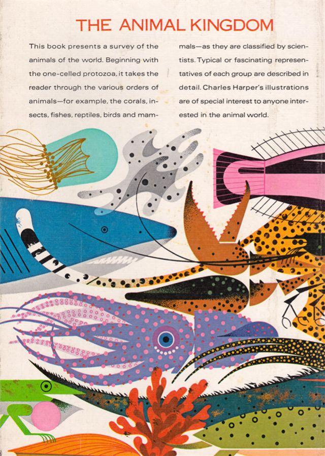 (Blog formunda) Benim eski kitap koleksiyonu Animal Kingdom .: - Charley Harper tarafından gösterilen