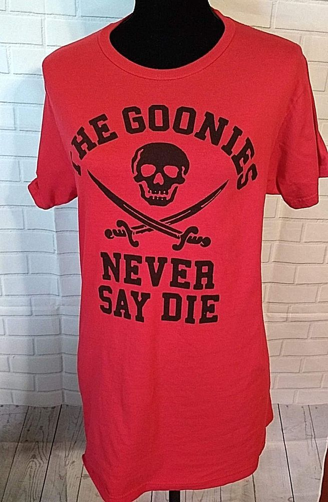 970e8e808a5 Ripple Junction The Goonies T-shirt Mens Size Medium Never Say Die Red   fashion