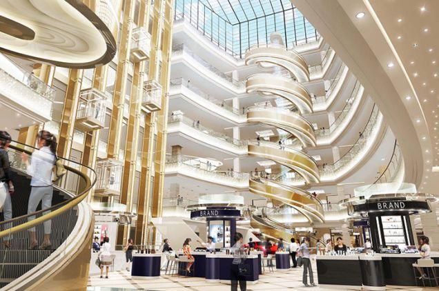 螺旋型升降扶梯@上海新世界大丸 日本三菱电机设计生产的世界最大