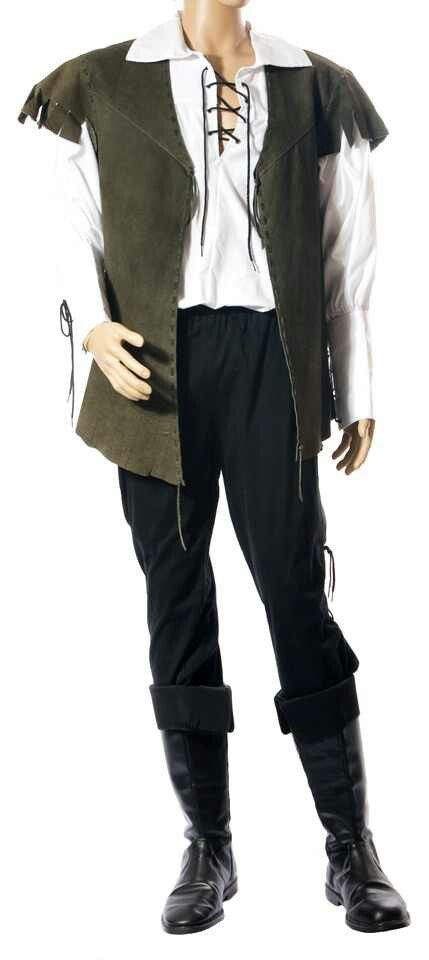 man leather jacket and pirate shirt - make vest from jacket and add cuffs to black boots