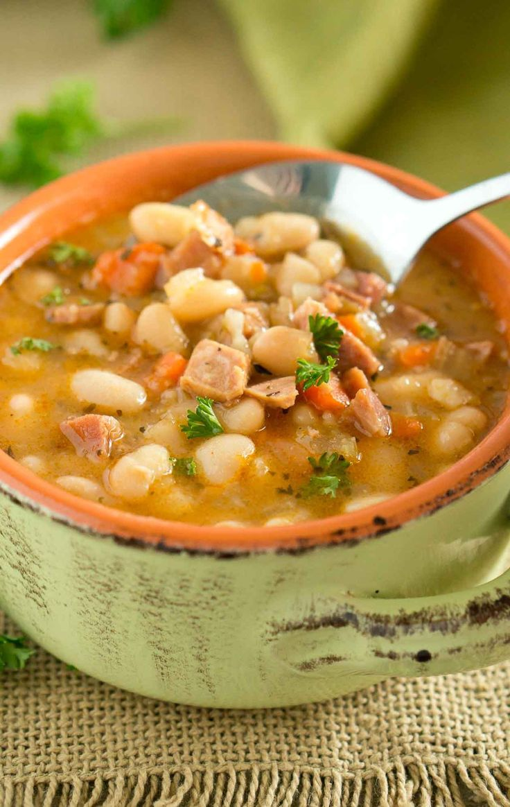 Hearty, starchy, and filling, this rustic Ham White Bean Soup is the epitome of comfort food. Great way to use leftover ham.