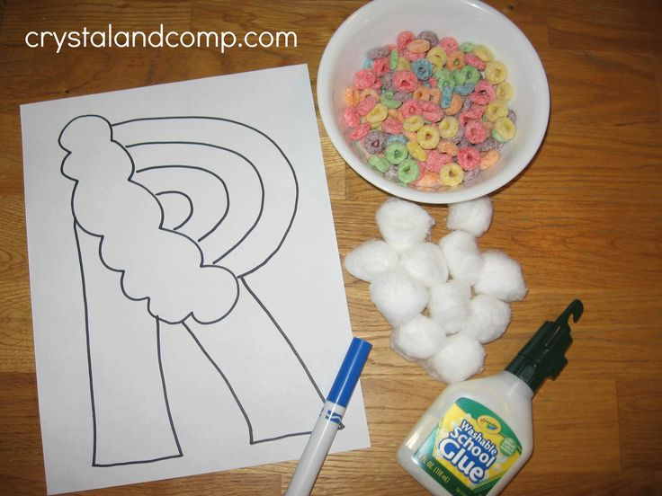letter of the week crafts: r is for rainbow #crystalandcomp