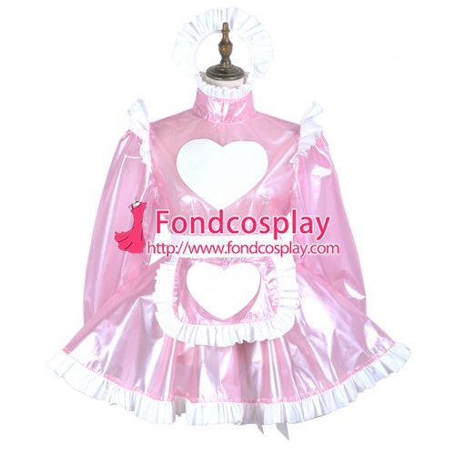 Sissy maid clear pvc dress lockable Uniform cosplay costume Tailor-made[G3717]