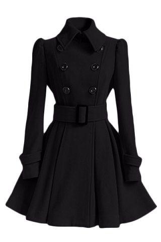 Vestido de capa elegante correa de invierno de la manga de las mujeres