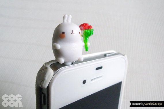 Bunny Brings You Flowers iPhone Plug