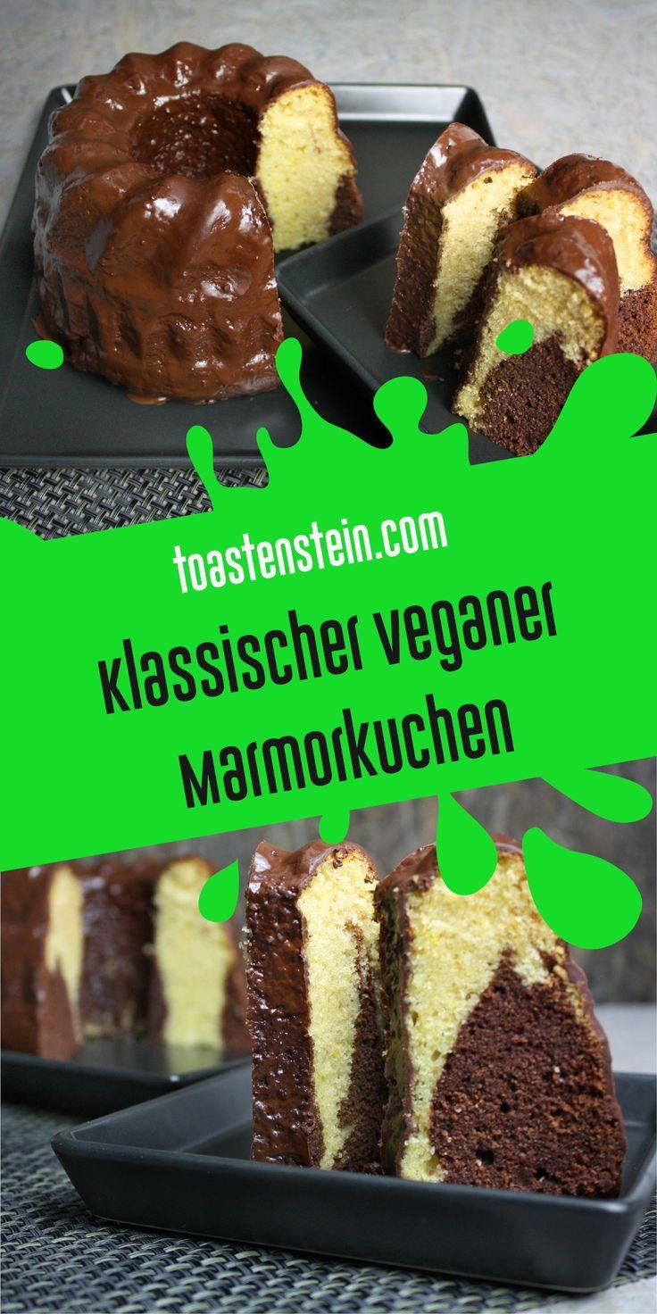 Vegan und lecker – klassischer Marmorkuchen • www.toastenstein.com • vegan …   – Vegane Rezepte