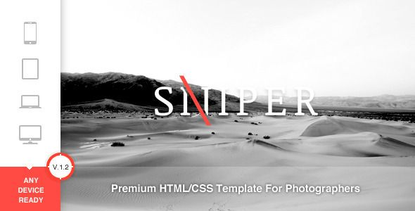 Sniper - Premium Photography Template - ThemeForest Item for Sale