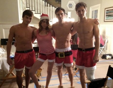 Tyler Blackburn, Ian Harding And Keegan Allen Shirtless For Pretty Little Liars Holiday Special - http://oceanup.com/2014/12/12/tyler-blackburn-ian-harding-and-keegan-allen-shirtless-for-pretty-little-liars-holiday-special/