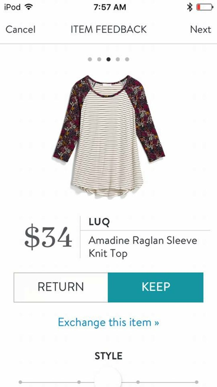 Like the combination of stripes and floral, plus low price point for casual wear. Luq Amadine Raglan Sleeve Knit Top, Stitch Fix