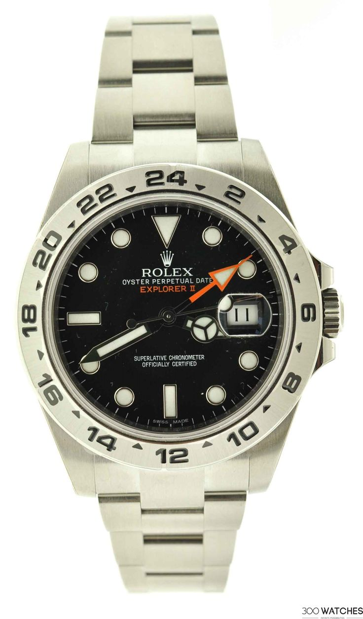 Men's Rolex Explorer II 216570 Black Dial Stainless Steel Automatic Date Watch