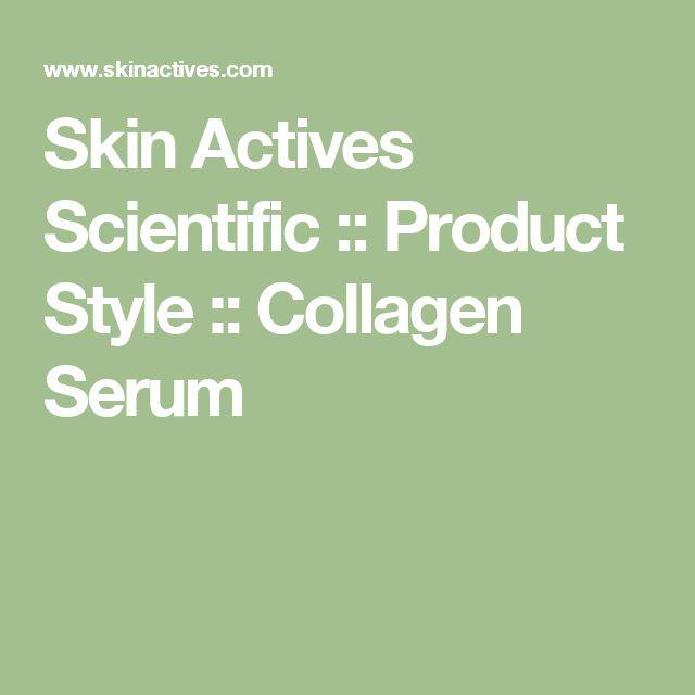Skin Actives Scientific :: Product Style :: Collagen Serum