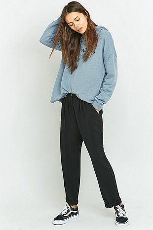 Light Before Dark Slouchy Tailored Black Trousers
