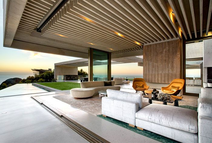 Amazing South African Mansion by SAOTA Architects romantic mansion sculptural timber clading