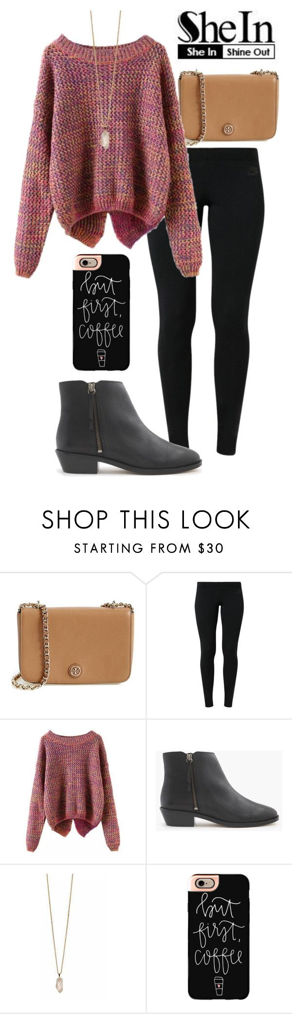 """SheIn"" by madelyn-abigail ❤ liked on Polyvore featuring Tory Burch, NIKE, J.Crew, Zoya, Casetify, women's clothing, women's fashion, women, female and woman"