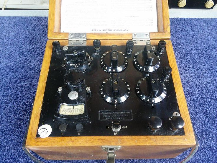Vintage Leeds Northrup Test Set 5305 Galvanometer Wheatstone Bridge #LeedsNorthrup
