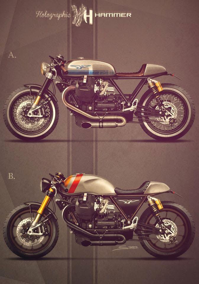 Cafè Racer Concepts - Moto Guzzi California 1400 by Holographic Hammer