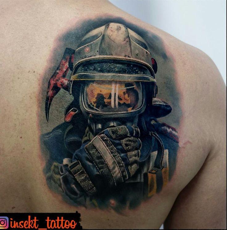 Die Besten 25+ Feuerwehrmann Tattoo Ideen Auf Pinterest