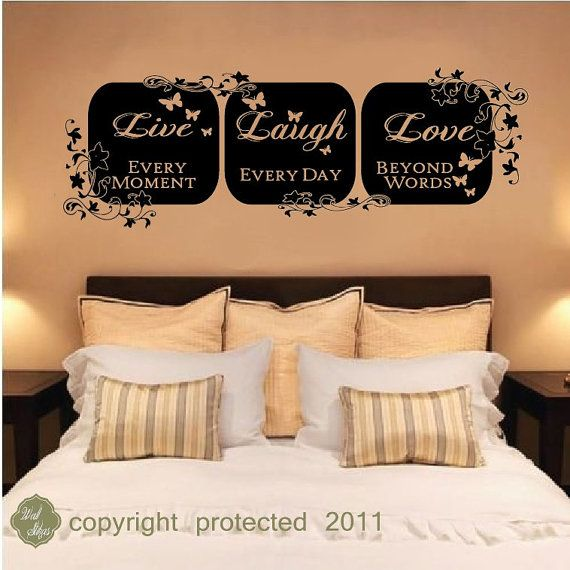 vinyl wall decal sticker - Live Laugh love wall art home decor