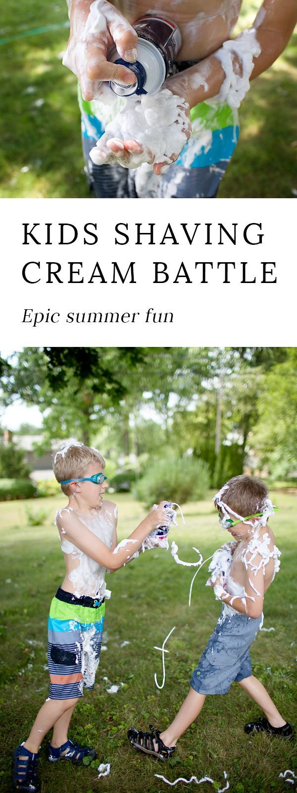 Want to make this summer one they will never forget? Turn on the sprinkler, pass the kids a couple cans of shaving cream, then prepare for the most epic, most messy, and most memorable day yet. Enjoying a Shaving Cream Battle is the perfect way to connect as a family, share laughter, and enjoy a beautiful summer day.