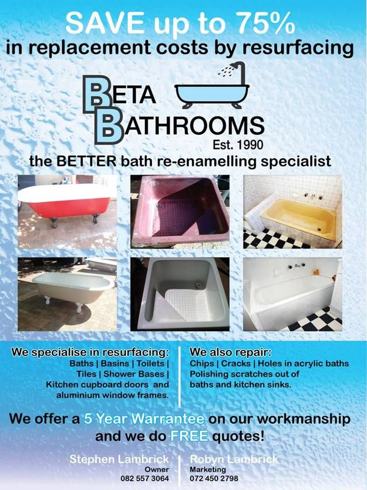 A brochure produced by @dynamicexposure - for our team.  We specialise in resurfacing all items - but especially baths.  Don't replace.  Resurface.  www.betabath.co.za