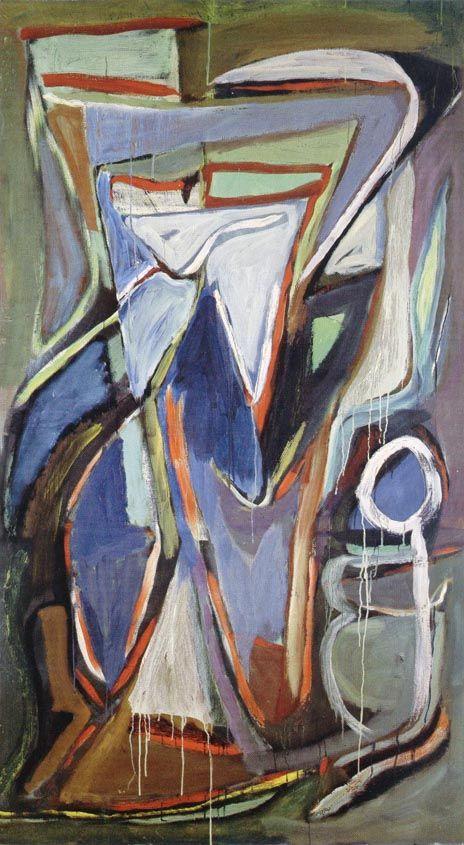 Zonder Titel, 1964, 182 x 103 cm, olie op doek, Andrée Putman