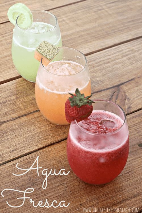 Agua Fresca is a fruity, refreshing drink popular in Mexico. This Cinco de Mayo be sure to add these three agua fresca recipes to your menu!