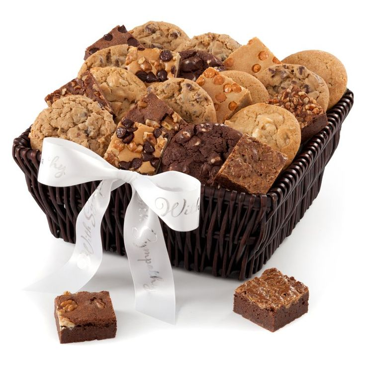 Mrs. Fields® Cookie & Brownie Sympathy Gift Baskets - 14EV1                                                                                                                                                                                 More