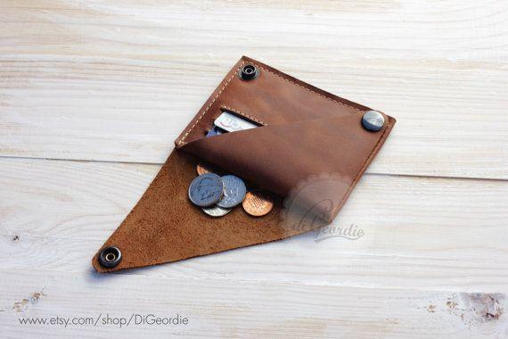 Cartera de viaje de cuero cartera mujer moneda pocket por DiGeordie